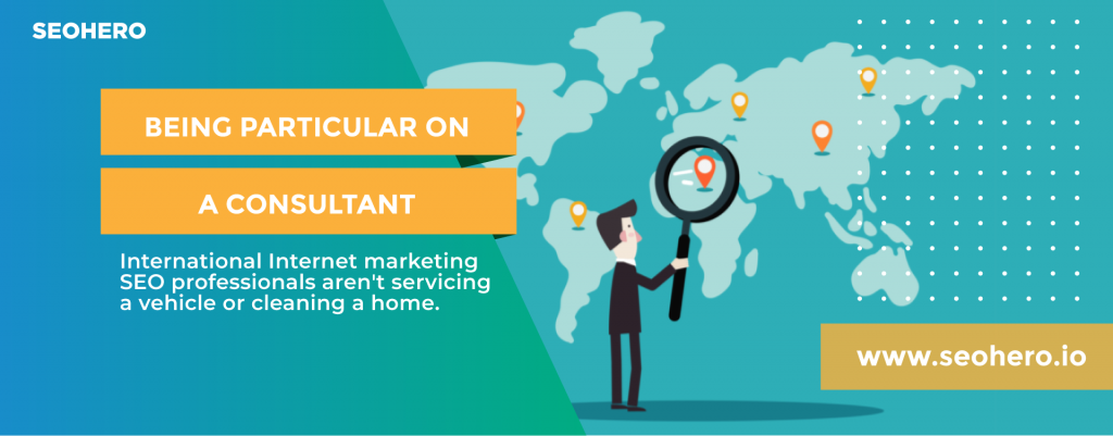 being particular on a seo consultant