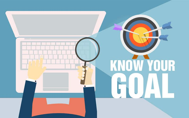 knowing the goal of your website thru seo