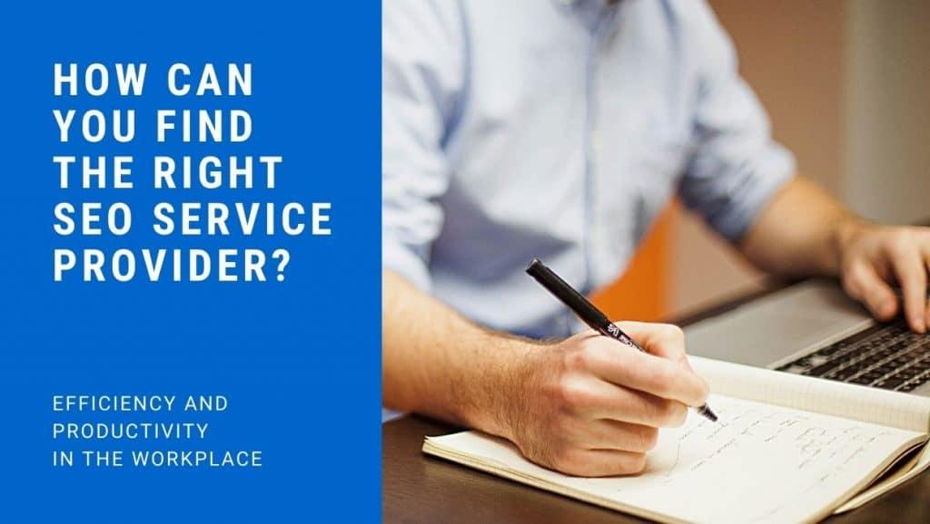 find the right SEO service provider