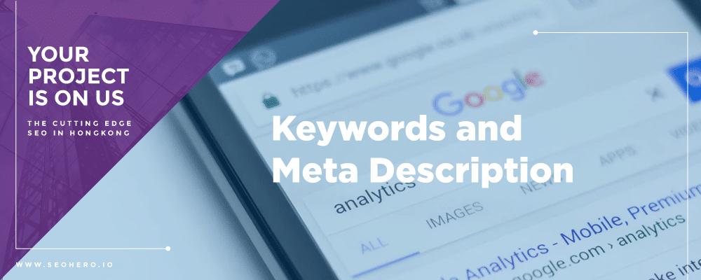 Keywords and Meta Description