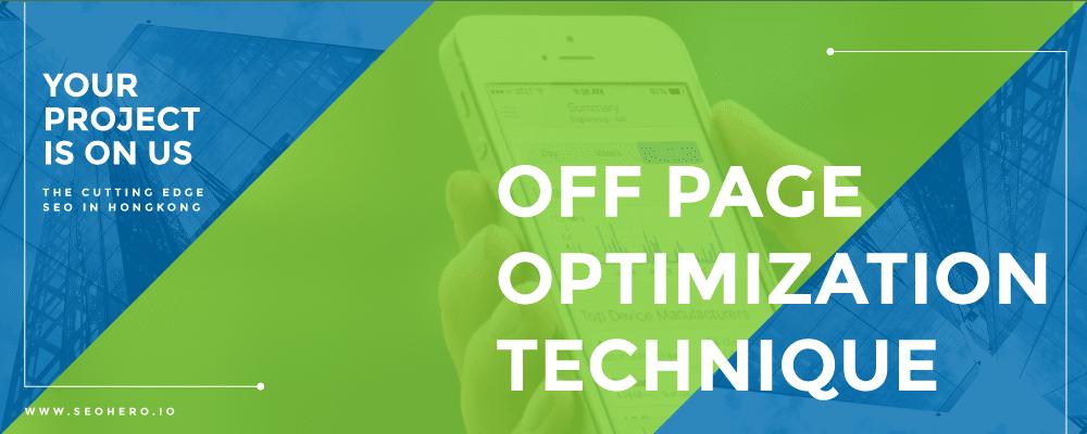 off page optimization technique