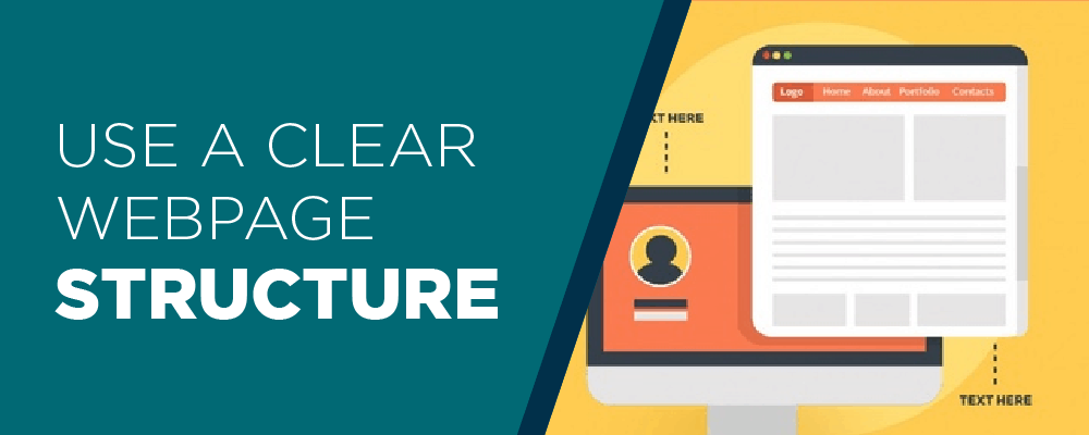 CLEAR WEB PAGE STRUCTURE IS VERY ESSENTIAL