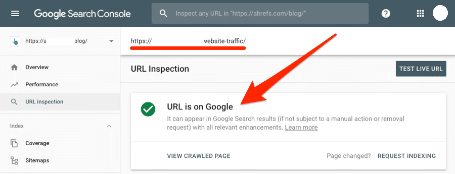 url-is-on-google-search-console
