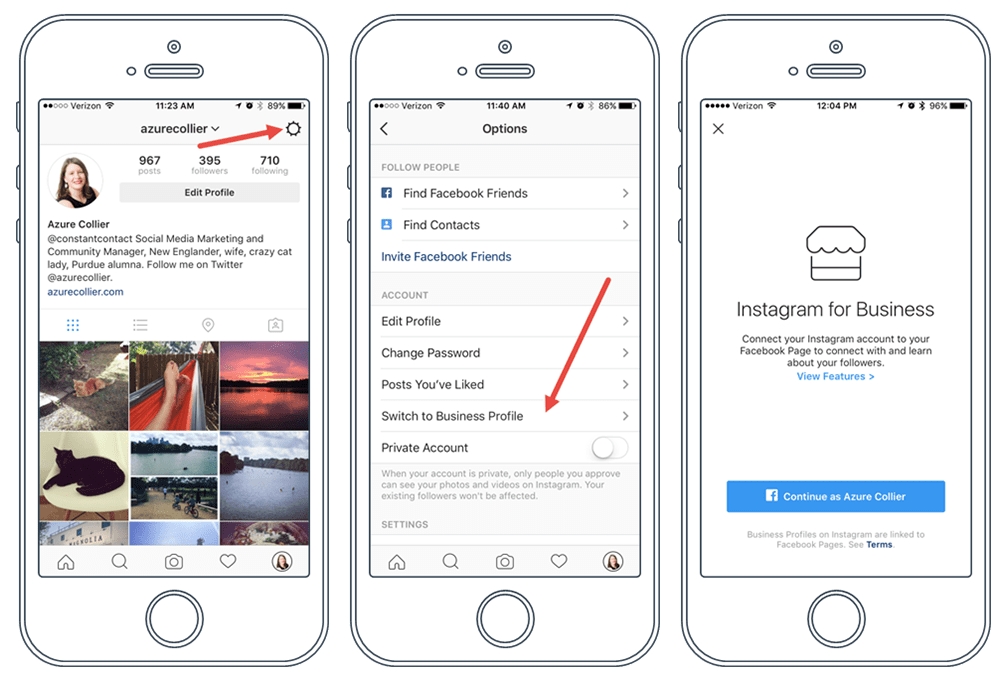instagram for business switch to business profile