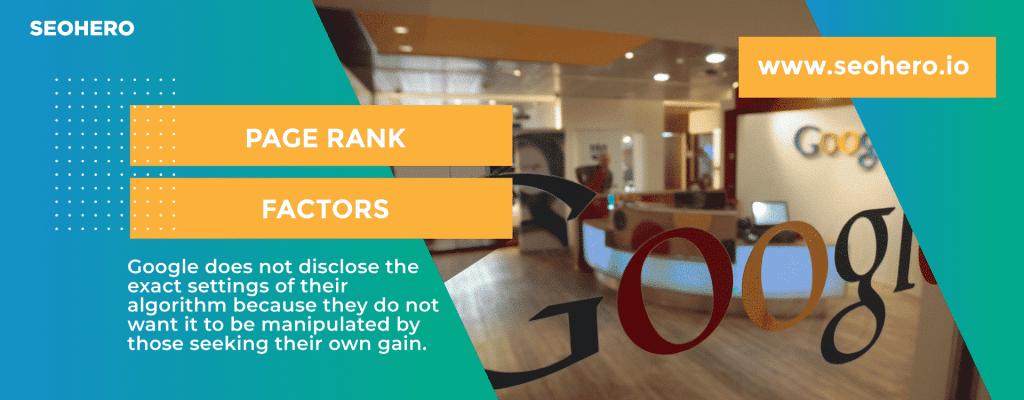 Page Rank Factors