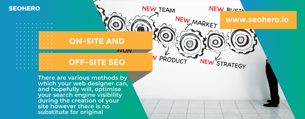what is on site and off site seo